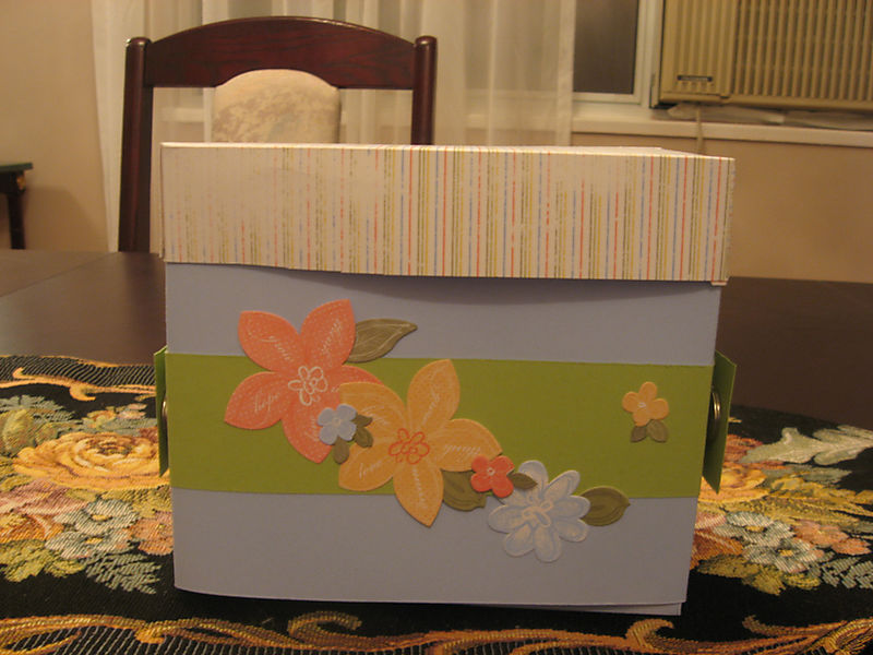 Pams Birthday Gift - Stationary Box