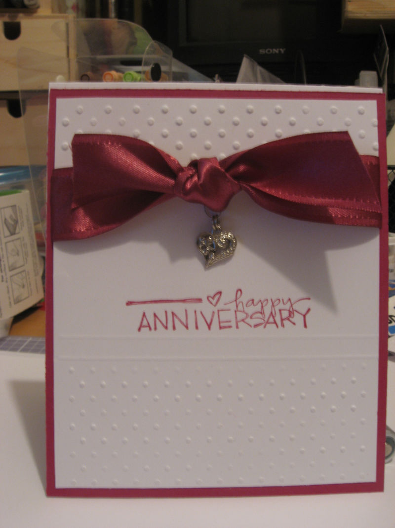 Anniversary Card - cased