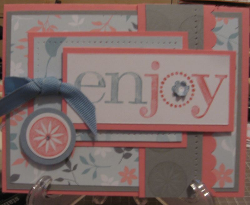 Enjoy every moment - my version of a Cased card