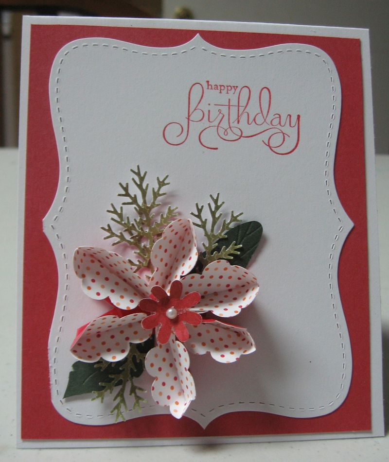 Teabag flower card by Heidi Kimmerly