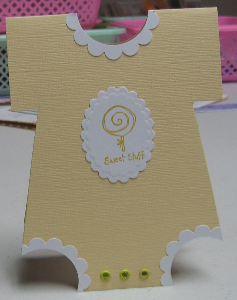 Baby shower Onesie card
