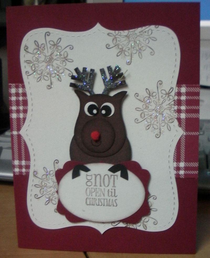 Christmas reindeer - cased